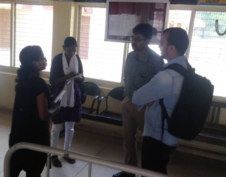 Kolar Comprehensive Primary Health Care  Project, visit to Thayloor PHC, 04.02.2016