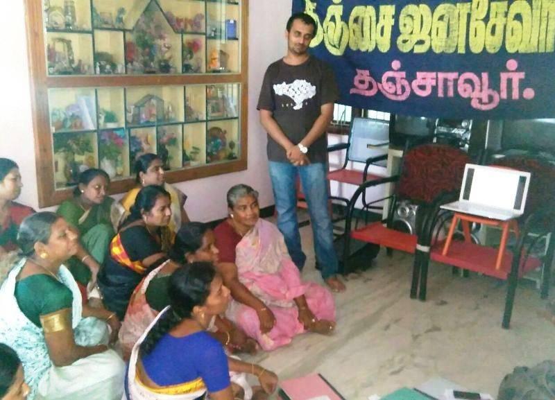 SLWM training for SHGs in Thanjavur, 19-08-2015
