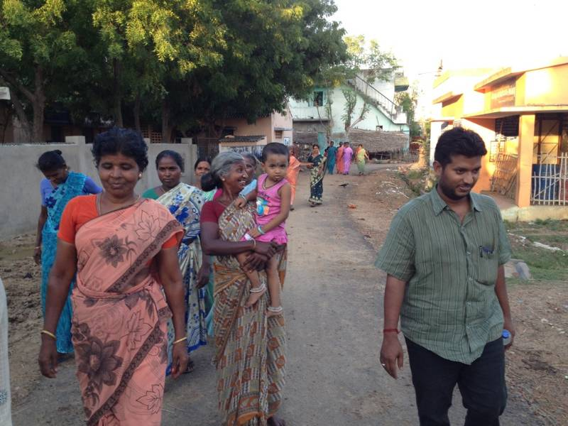 Sanitation training with trigerring activities for SHGs in Thanjavur Rural, 20-08-2015