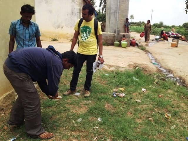 Masonry Training for Toilet Construction, Aralere village, 1-9-2015
